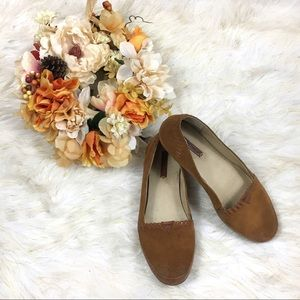 Frye Mocassin Stitched Ballet Slipper Flats